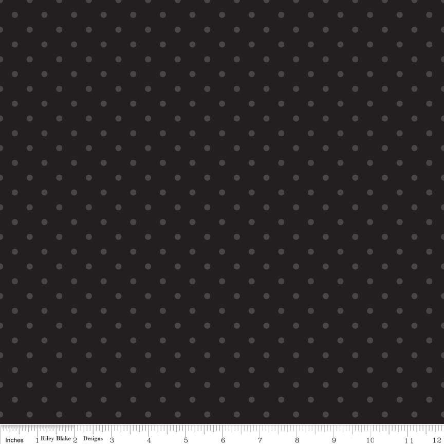 Swiss Dots Black dots on Black