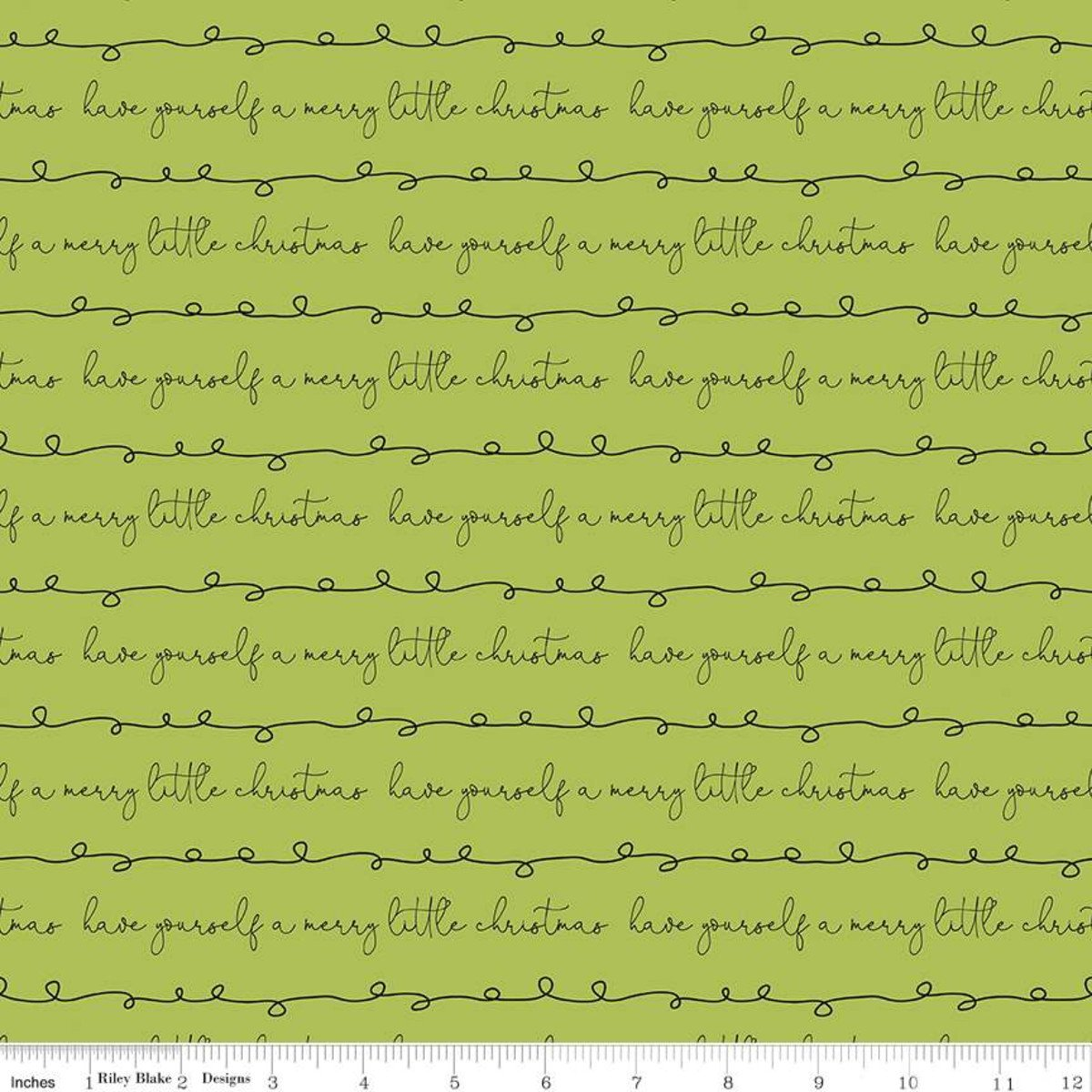 Merry Little Christmas Writing Green