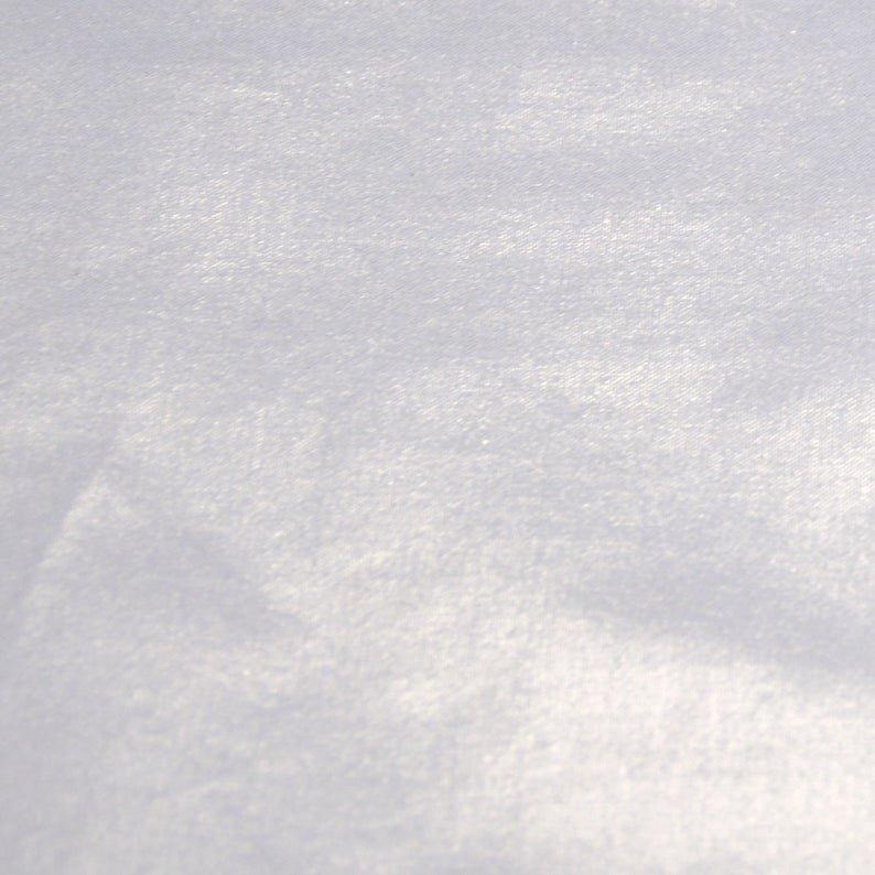 Glitz Solid White Silver/White