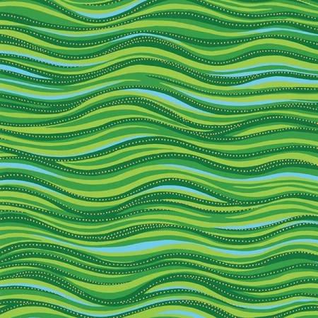 Laurel Burch Basic Wave Green Metallic