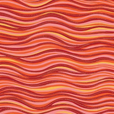 Laurel Burch Basic Wave Dark Coral Metallic