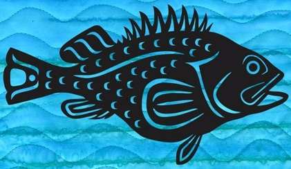Mini Rockfish Laser Applique Only