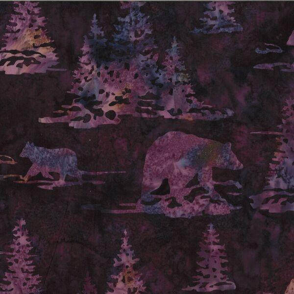Walking Bear Batik-H-N2910-423 Marsala