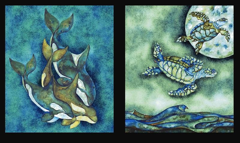 Wilderness Expressions Sea Block Panel-K-15950-59 Ocean P97