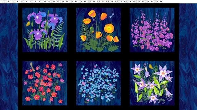 Alaskan Wildflowers Panel Y1891-93 P98