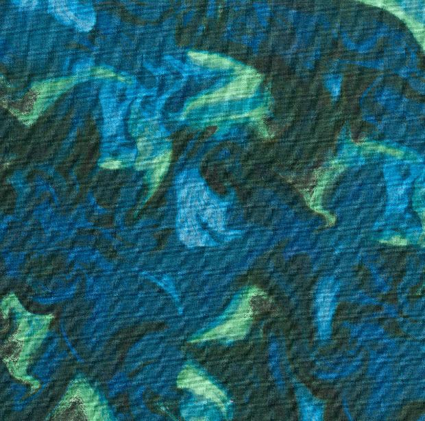 Alaskan Wildflowers Swirl-CW Y1893-107 Blue-Green