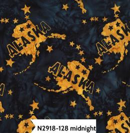 State of Alaska Batik H N2918-128 Midnight