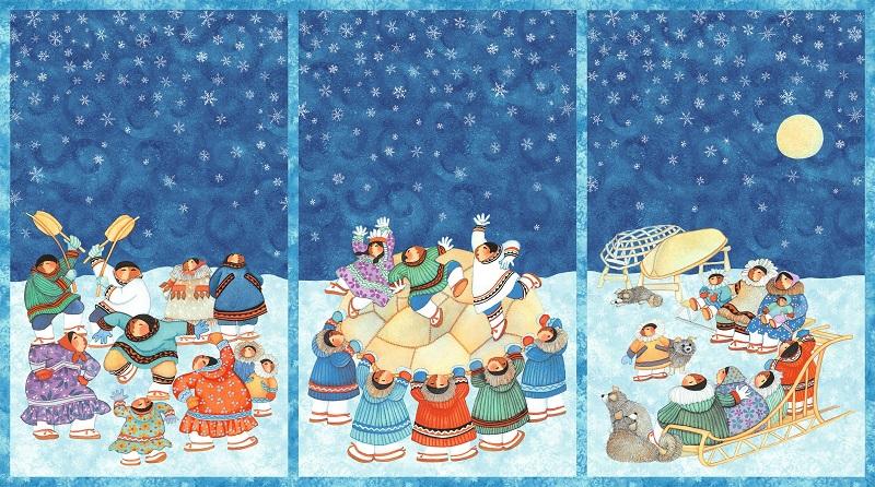 Arctic Snow Panel  P59 Blanket Toss Lavallee NC 21216