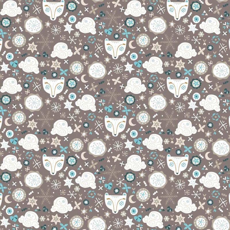 Snowfall Bear Faces CAM4240405-3 Grey
