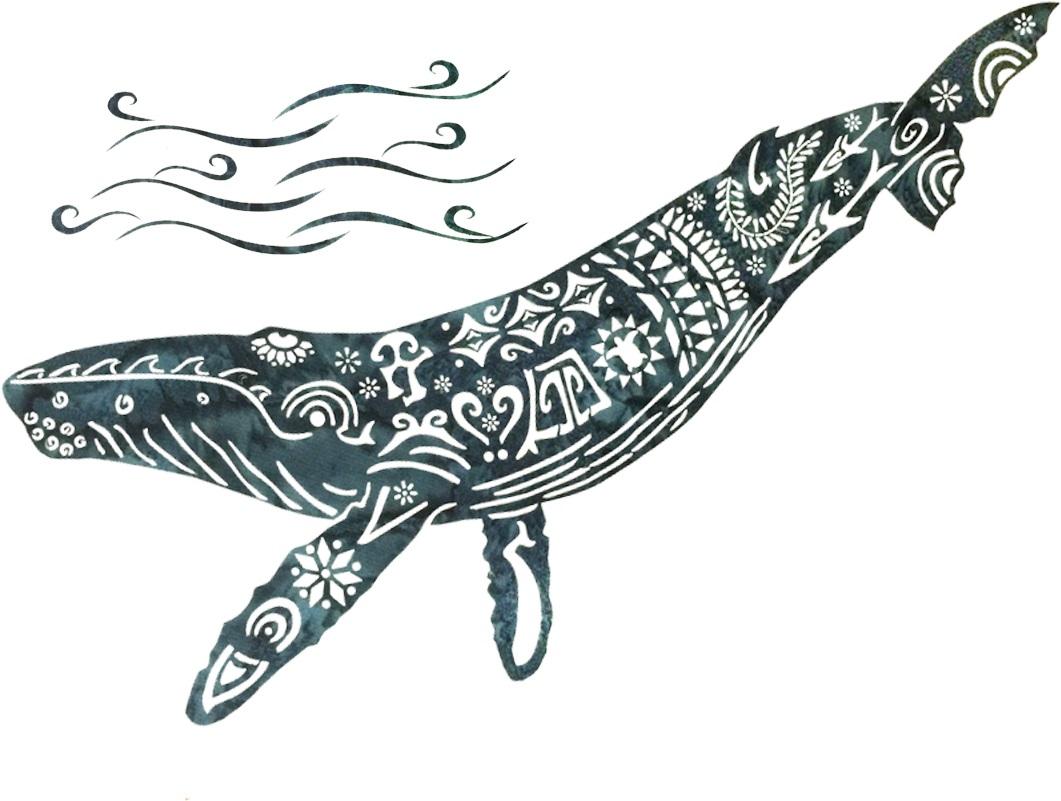 Alaska Whale Song Laser Only Black Humpback