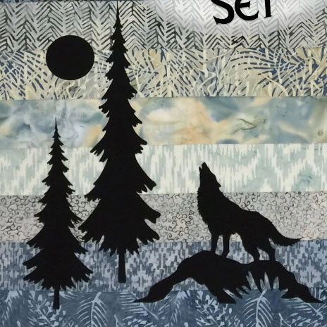 Mini Wolf & Trees Laser Cut Applique Double Set