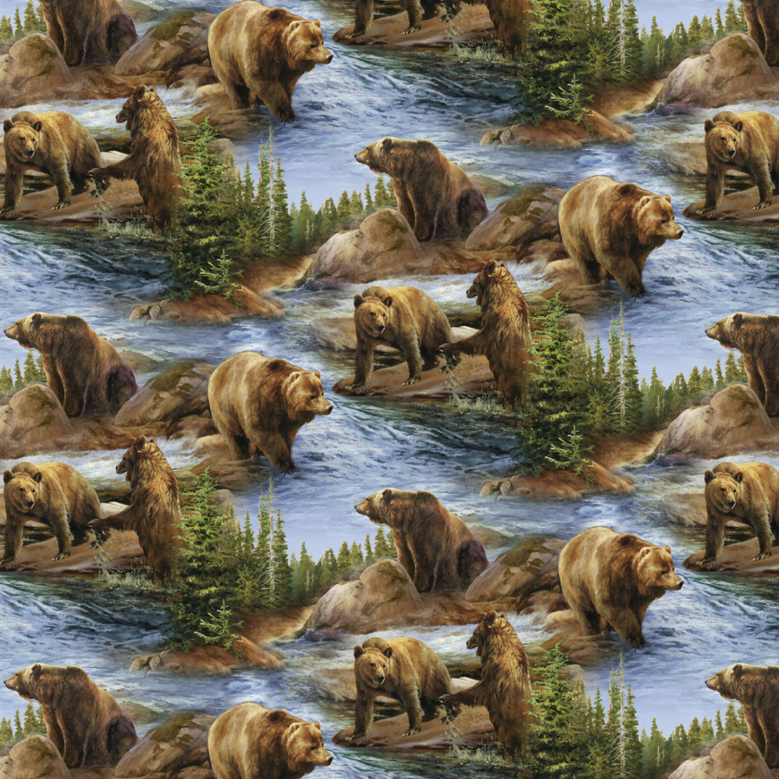 Brown Bear by River SPR 62418