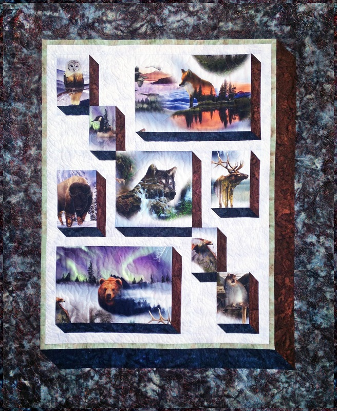Shadowbox Quilt Kit Shadows of the Wild