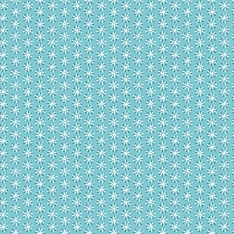Snowfall Snowflakes Aqua CAM 42406-1