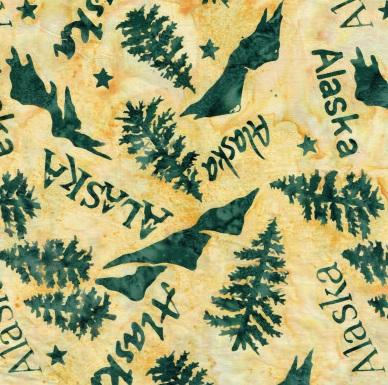 Batik Trees Mountains Alaska IB SH51 07 REV Tan