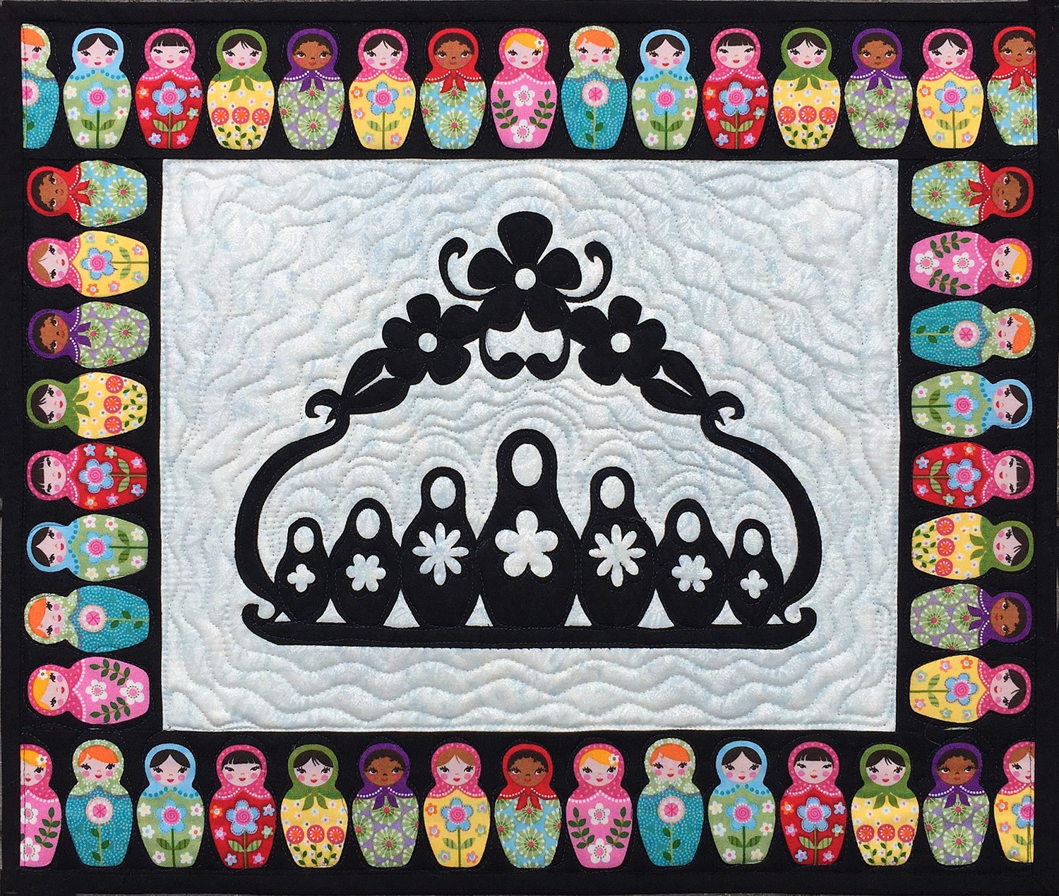 Mini Matryoshka Laser Cut Quilt Kit Nesting Doll