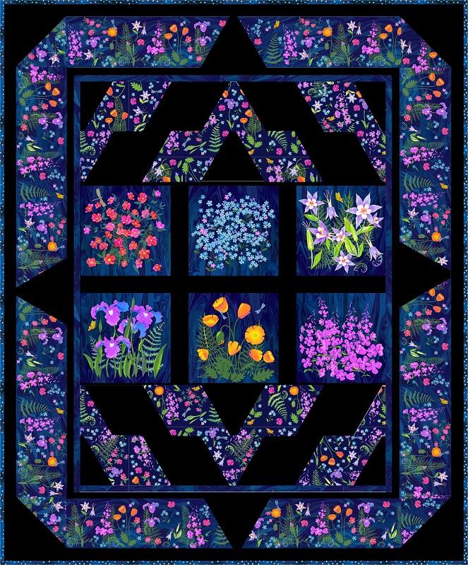 Alaska Wild Flowers Quilt Kit Teresa Ascone Wildflowers