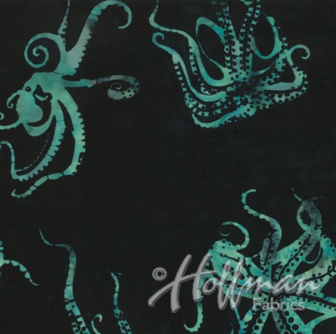 Octopus Batik H Q2169-216 Black/Jade