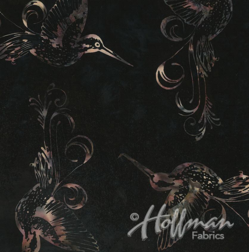Hummingbird Batik H Q2149-515 Rum Raisin