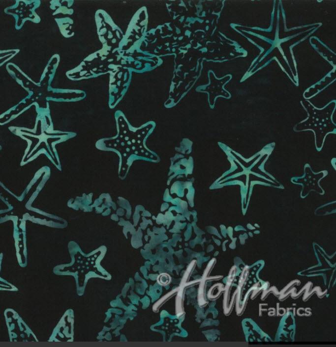Batik Starfish H Q2167-216 Black Jade
