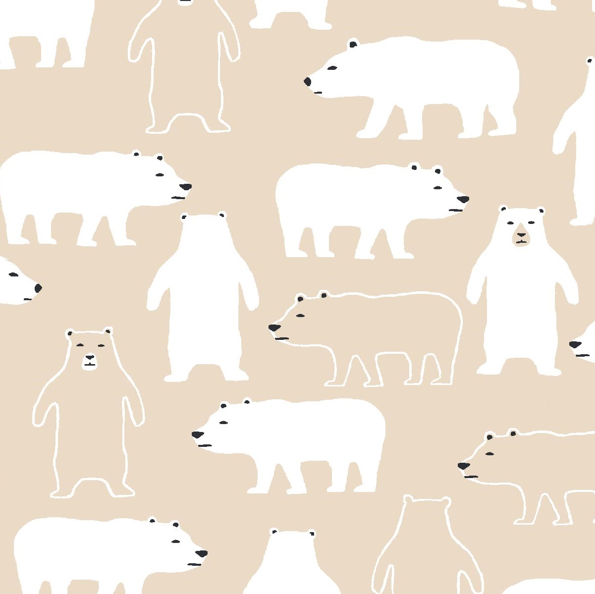 Cold Comfort Polar Bears TT 842 Sand
