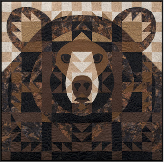 Black Bear Face Quilt Kit