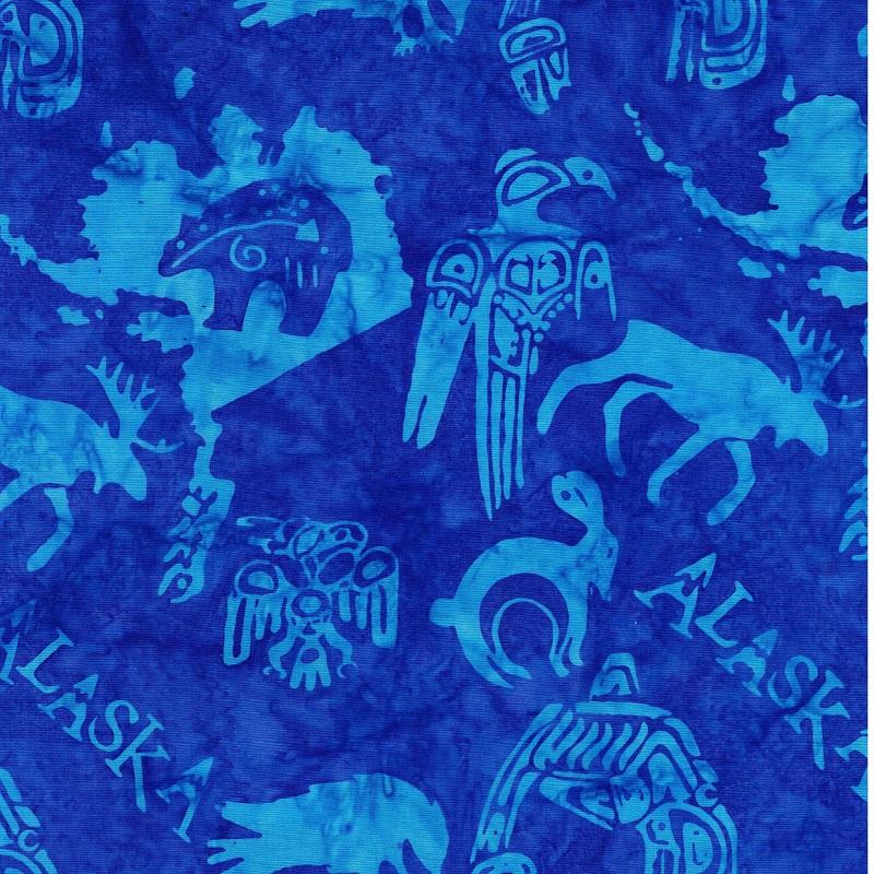 Alaska Specialty Batik SH15-530 Bluebird