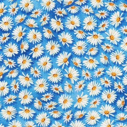 Blue Daisy Floral K 18307-247 Cornflower