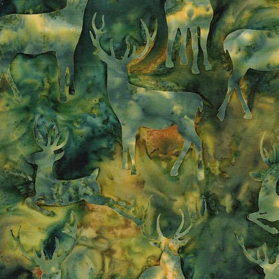 Batik Elk Green IB 121805680