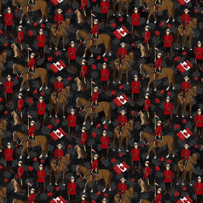 Canadian Mounties Digital NC DT 22528-99 Black