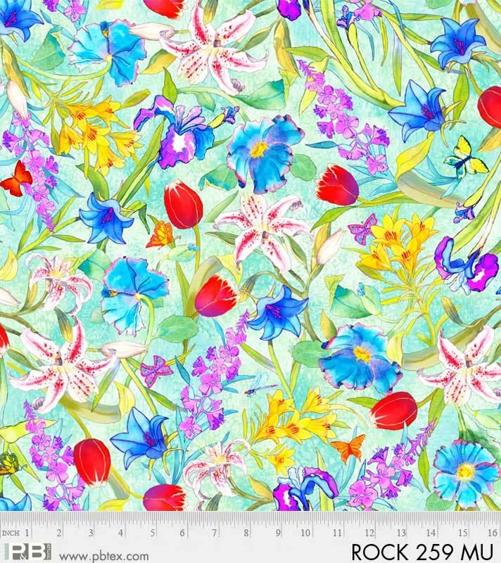 Rock Garden Floral Green PB 259MU Digital