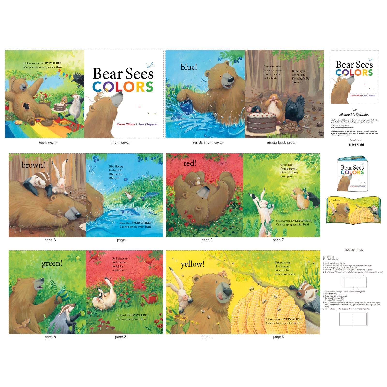 Bear Sees Colors P61 Soft Book Panel ELS 11001