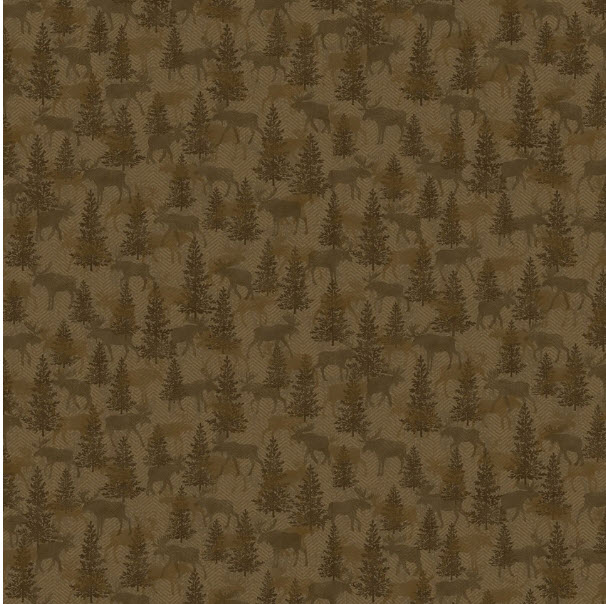 Another Moose Tonal Trees BTX 9613-78 Brown