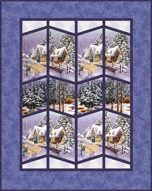 Snow Chateau Quilt Kit Lap Sz Scenic View