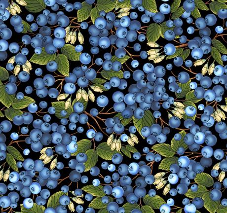 Blueberries QT 27250-J Black