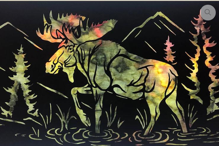 Moose Stroll Applique Laser Only