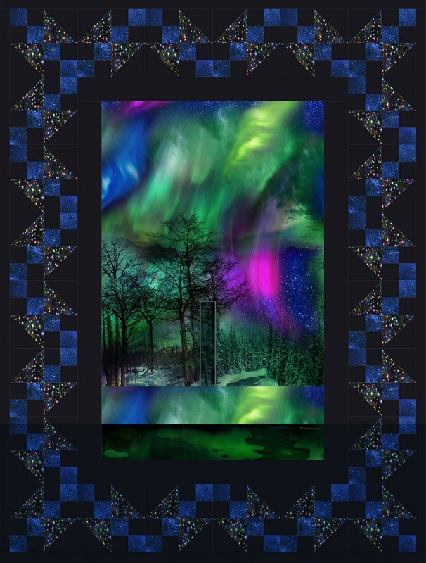Chain of Geese Quilt Kit Northern Lights Aurora