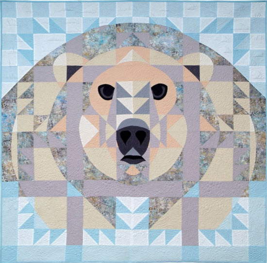 Ice Bear Janet Fogg Quilt Kit Polar Bear