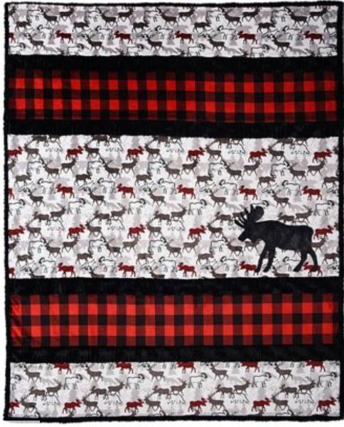 A Moose'd Cuddle Cloth Quilt Kit