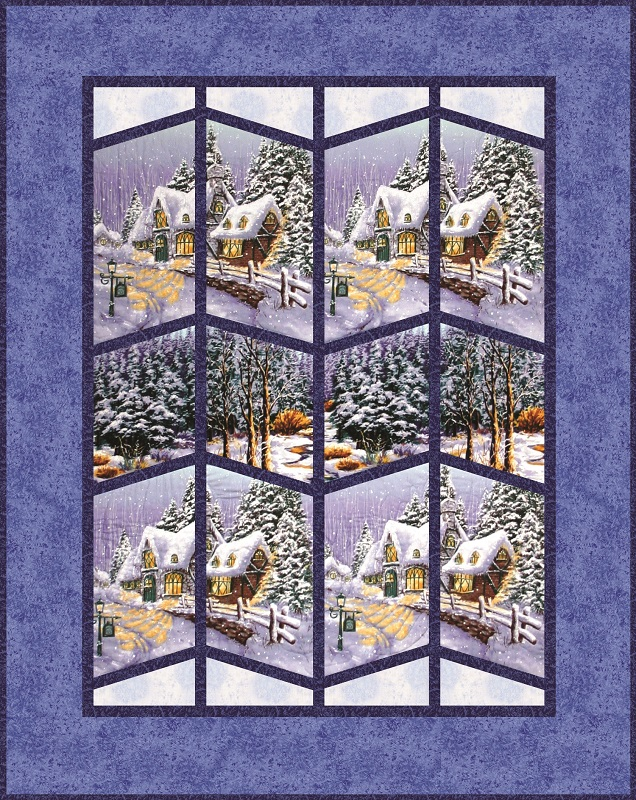 Snow Chateau Queen Quilt Kit Scenic View
