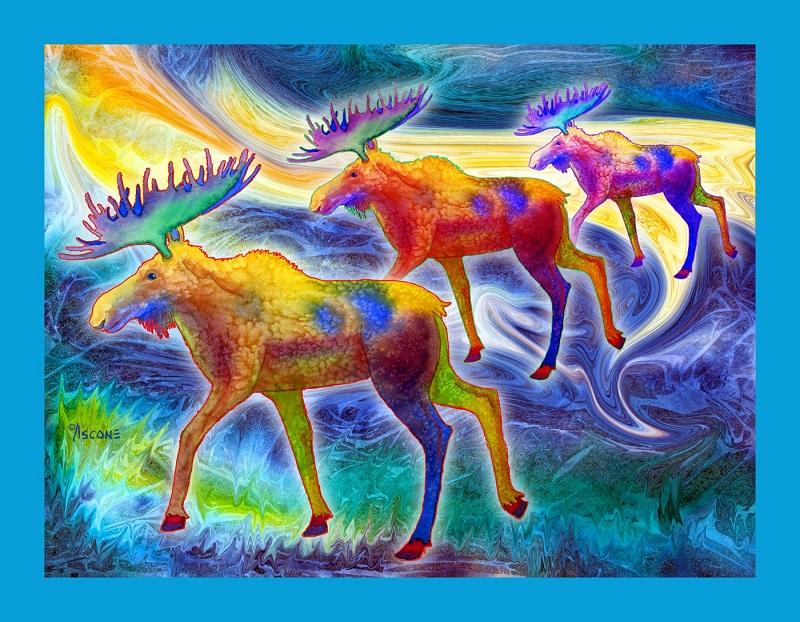 Moose Mystique Panel Teresa Ascone