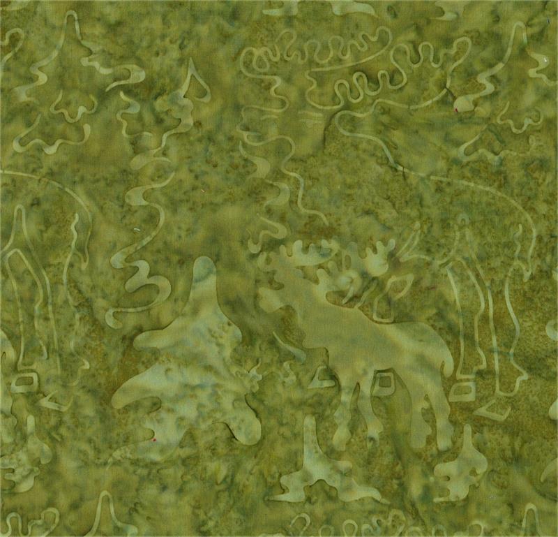Batik Moose BT 5358 Green Tonal