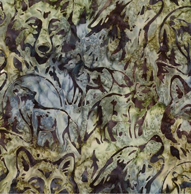Batik Wolves K 19092-293 Smoke