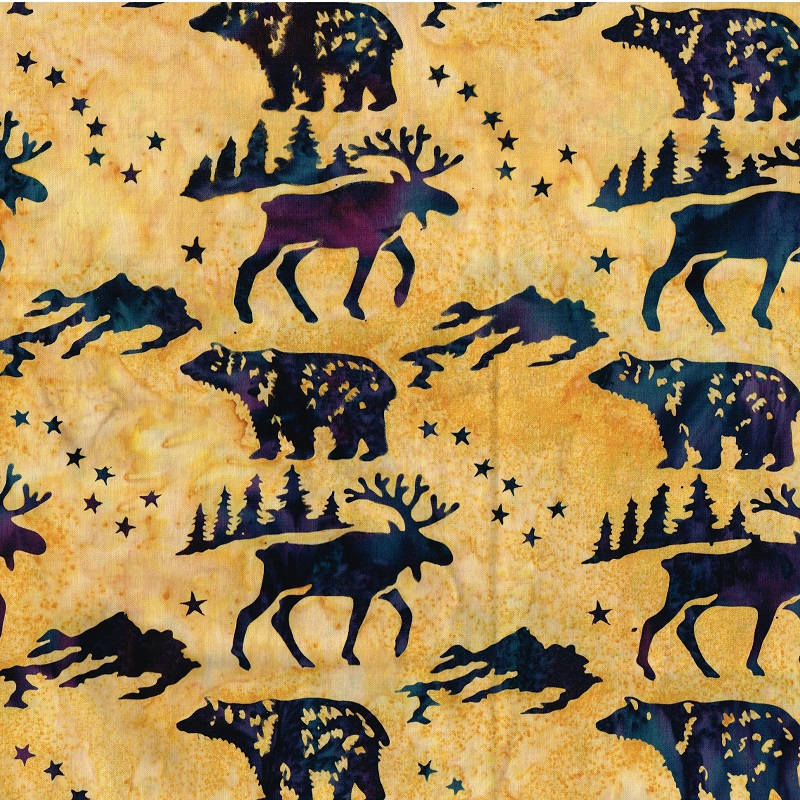 Big Dipper Wildlife Batik SH84-038 Hay