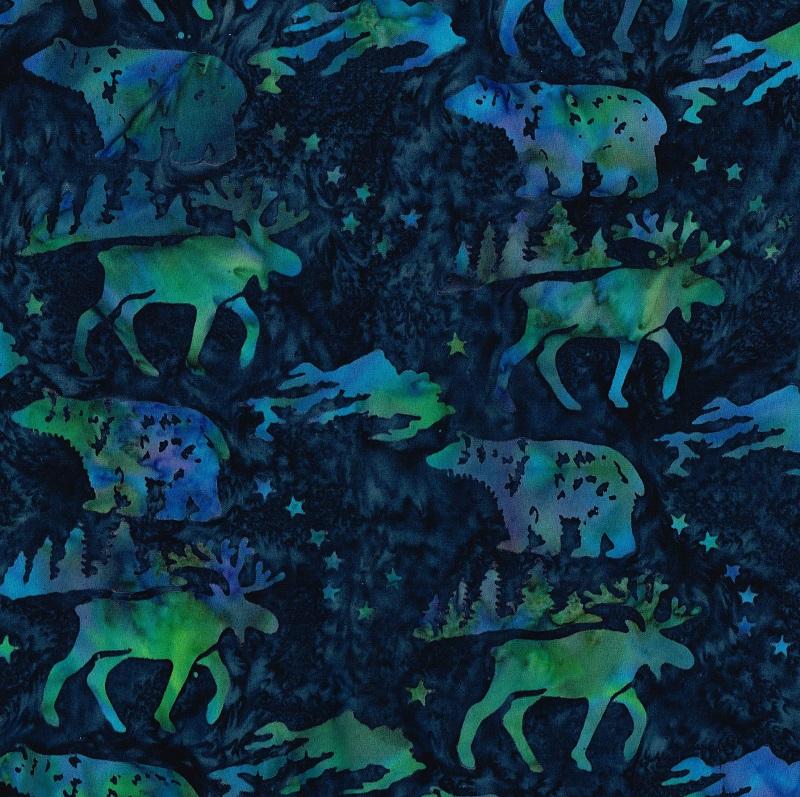 Big Dipper Wildlife Batik SH84-570 Universe