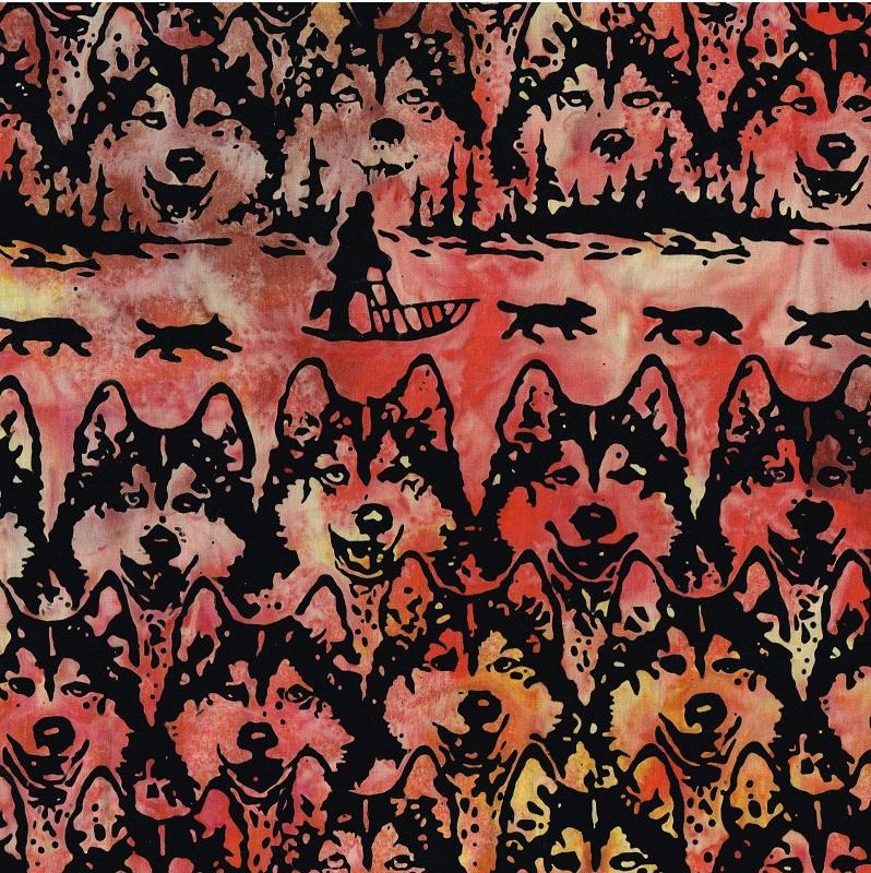 Batik Jon Van Zyle Husky Sled SH48-D Dusk