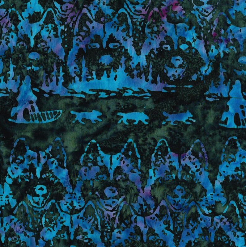 Batik Jon Van Zyle Husky Sled SH48-K Rev M