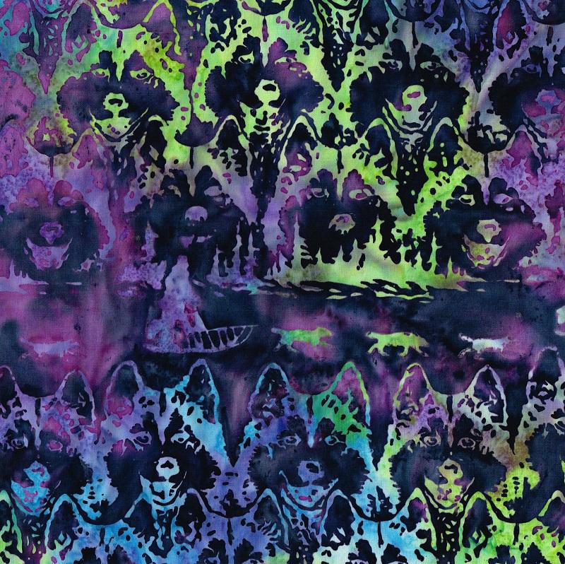 Batik Jon Van Zyle Husky Sled Sh48-RL-2-Rev-L