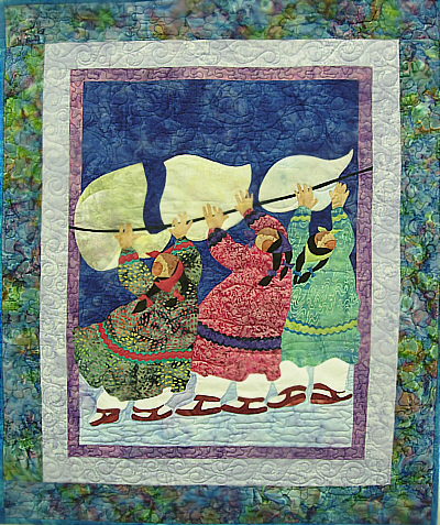 3 Sheets to the Wind Quilt Kit-Barbara Lavallee