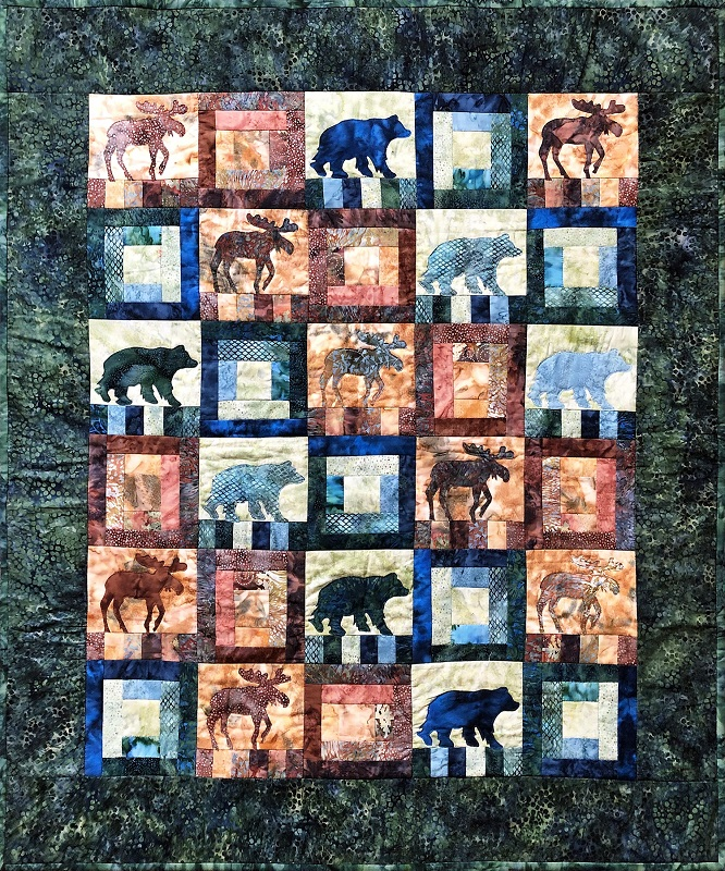The Wanderers Quilt Kit Moose Bear